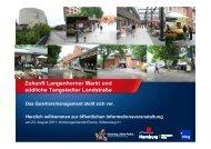 Zukunft Langenhorner Markt und südliche Tangstedter Landstraße