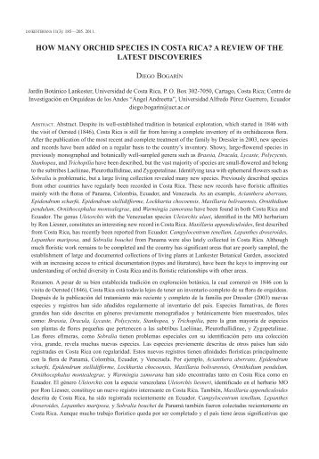 how many orchid species in costa rica? a review of the ... - Epidendra