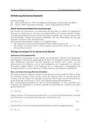 Einführung Extremwertstatistik