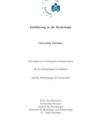 Einführung in die Hydrologie