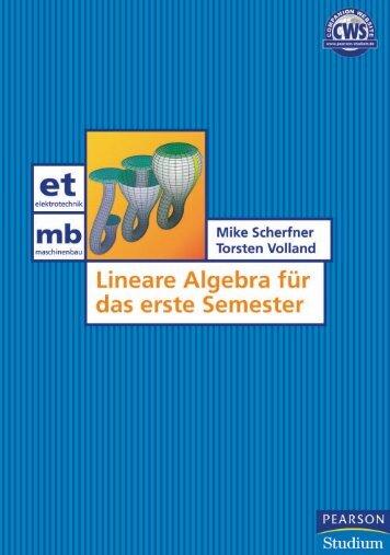 Lineare Algebra für das erste Semester - *ISBN ... - Mathematikwelt