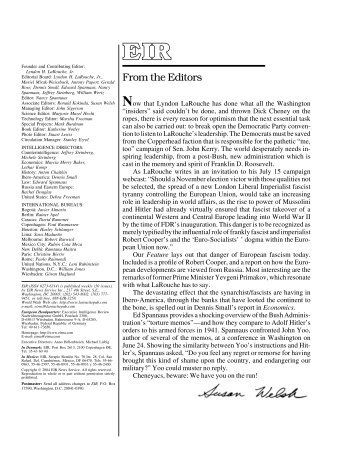 Volume 31, Number 26, July 2, 2004 - Executive Intelligence Review