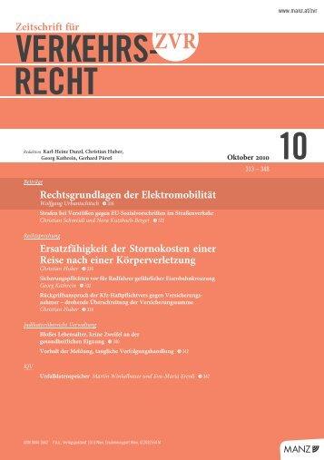 VERKEHRS- RECHT - Kfv