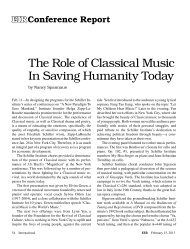 The Role of Classical Music In Saving Humanity Today
