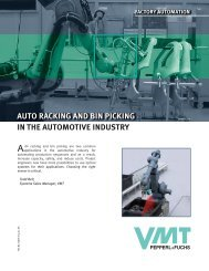 Auto Racking and Bin Picking in the Automotive Industry