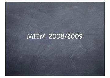 MIEM 2008/2009