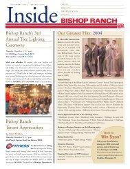 Our Greatest Hits: 2004 Bishop Ranch Tenant Appreciation Bishop ...