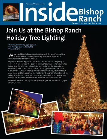 Join Us at the Bishop Ranch Holiday Tree Lighting!