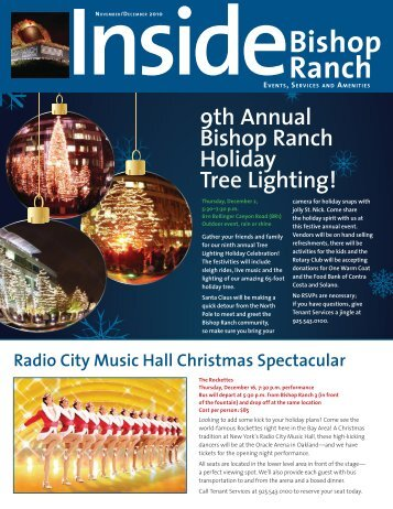 9th Annual Bishop Ranch Holiday Tree Lighting!