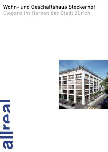 Allreal - Referenzbroschüre Wohn- und Geschäftshaus Stockerhof
