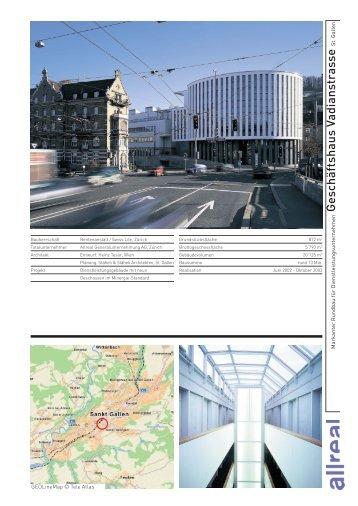 Geschäftshaus Vadianstrasse St. Gallen - Allreal Holding AG