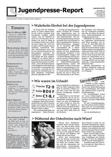 Ausgabe 03/2005 - Jugendpresse BW