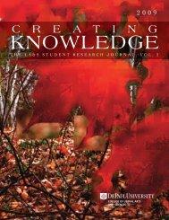 2009, Volume 2 - DePaul University College of LAS