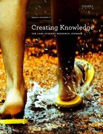 Creating Knowledge - DePaul University College of LAS