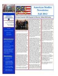 American Studies Newsletter Fall 2012 - DePaul University College ...