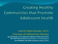 Creating Health Communities that Promote Adolescent Health