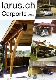 Katalog Carports mit Preisen 2013 - Larus.ch