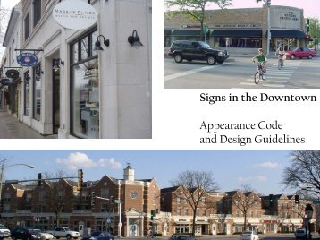 Signs in the Downtown Appearance Code and Design Guidelines