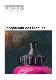Recapitulatif des Produits - Lascaux Colours & Restauro