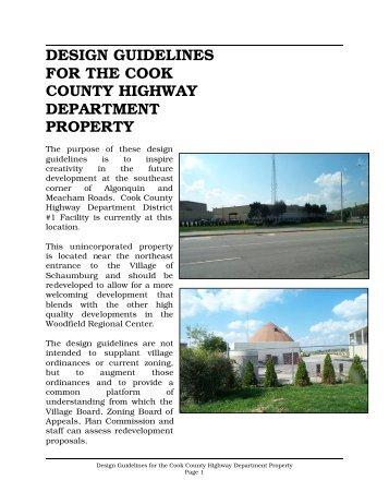 Design Guidelines-Cook County Highway Department