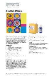 Lascaux Decora - Lascaux Colours & Restauro