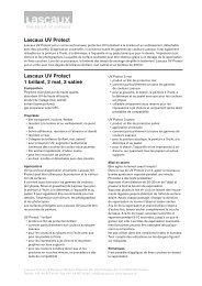 Lascaux UV Protect 1 brillant, 2 mat, 3 satiné Lascaux UV Protect