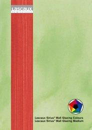 Lascaux Sirius® Wall Glazing Colours Lascaux Sirius® Wall Glazing ...