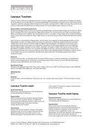 Lascaux Tuschen - Lascaux Colours & Restauro