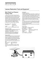 Lascaux Restoration Tools and Equipment
