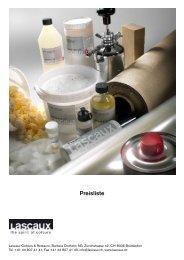 Preisliste - Lascaux Colours & Restauro