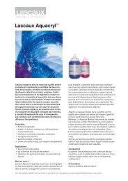 Lascaux AquacrylTM - Lascaux Colours & Restauro