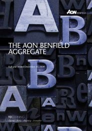THE AON BENFIELD AGGREGATE - Reinsurance Thought ...