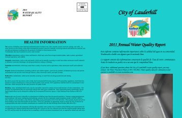 Annual Water Quality Report - City of Lauderhill