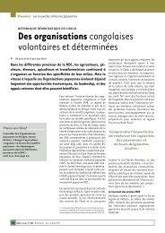 Organisations paysannes - SOS Faim