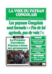 Pas de loi agricole, pas de voix - La voix du paysan congolais