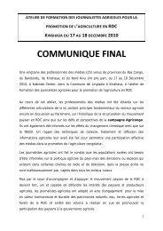 COMMUNIQUE FINAL - La voix du paysan congolais
