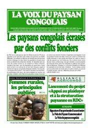 ce numéro - La voix du paysan congolais