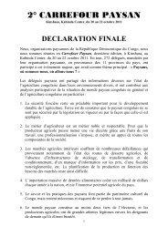 DECLARATION FINALE - La voix du paysan congolais