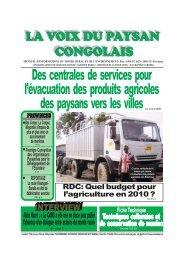 La voix du paysan congolais - SOS Faim