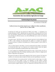 Réalisé par la Coordination Nationale de l'AJAC - La voix du paysan ...