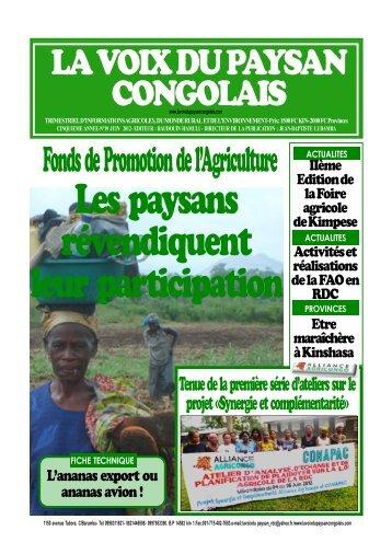 Les paysans révendiquent leur participation - La voix du paysan ...
