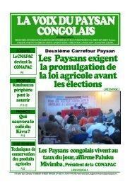 D - La voix du paysan congolais