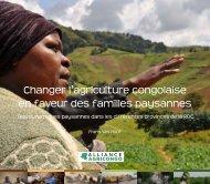 Changer l'agriculture congolaise en faveur des familles paysannes