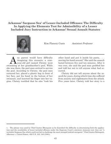 Law Reviews - Arkansas Bar Association Main