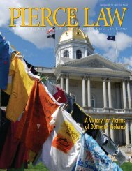 Pierce Law Magazine Summer 2010 Vol.14, No. 2 - UNH School of ...