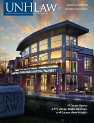 Winter 2012 - UNH School of Law - University of New Hampshire