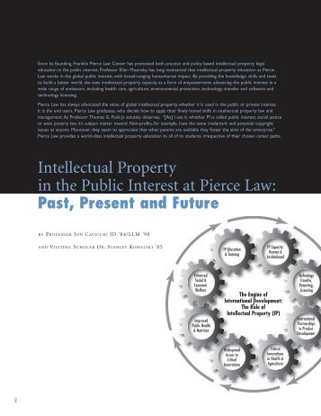 Intellectual Property in the Public Interest at Pierce Law: Past ...