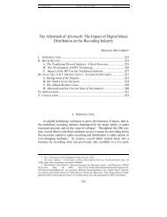 The Impact of Digital Music Distribution on the Recording Industry