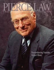 Pierce Law Magazine Winter 2010 ? Vol. 14, No. 1 - UNH School of ...