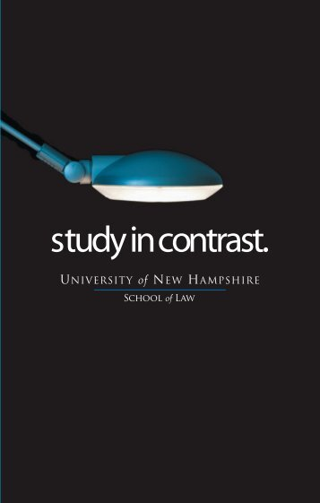study in contrast. - UNH School of Law - University of New Hampshire